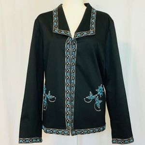Victor Costa Occasion Embellished Jacket   Sz XL